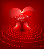 Heart for Beautiful happy valentine's day card background Stock Images