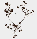Heart with beautiful orchid flowers Royalty Free Stock Photo