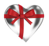 Heart with beautiful ribbon Stock Photos