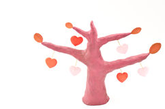 Heart become a tree Stock Photography