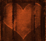 Heart behind bars. Golden heart behind bars Royalty Free Stock Image