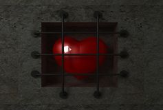 Heart behind bars Royalty Free Stock Photos