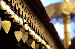 Heart Bells At Buddhist Temple Royalty Free Stock Images