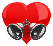 Heart bells Royalty Free Stock Image