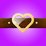 Heart belt buckle Stock Photo