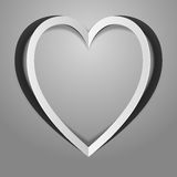 The heart bent from paper Royalty Free Stock Photo