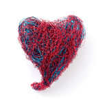 Heart. The heart of bent wire isolated on white background Stock Photos