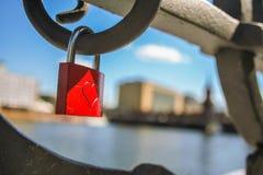 Heart in Berlin. Locker locked on a bridge at Berlin, as symol of eternal love Royalty Free Stock Photos