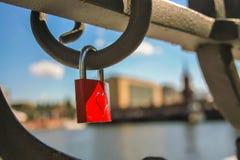 Heart in Berlin. Locker locked on a bridge at Berlin, as symol of eternal love Royalty Free Stock Photography