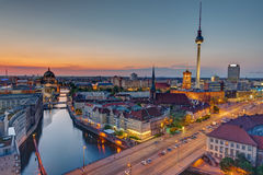 The heart of Berlin after sunset Stock Images