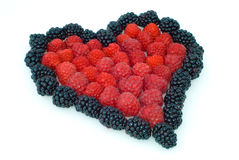 Heart Of Berries Royalty Free Stock Images