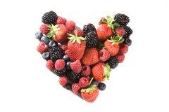 Heart of berries Royalty Free Stock Image