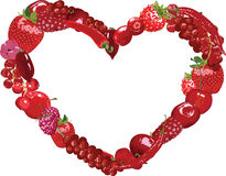 Heart of berries Royalty Free Stock Photography