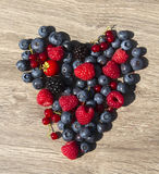 Heart berries stock photos