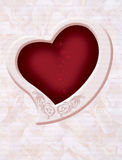 Heart BG. Heart ornament with Roses blend in background royalty free stock photos