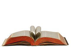 Heart In Bible Stock Photography