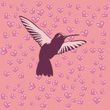 Heart bird. The floor consists of a pink bird themed graphic heart Vector Illustration