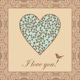 Heart bird Royalty Free Stock Image