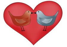 Heart with birds Royalty Free Stock Photography