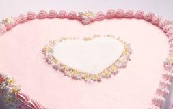 Heart of Birthday Cake Stock Photo