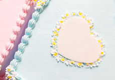 Heart of Birthday Cake Royalty Free Stock Photo