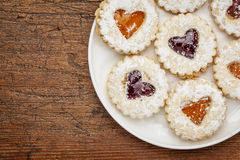 Heart biscuit cookies Stock Images