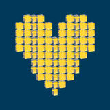 Heart bit. Pixel art. Love. Royalty Free Stock Images
