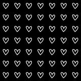 Heart Black Background icon great for any use. Vector EPS10. Stock Images