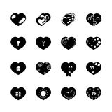 Heart black 16 Royalty Free Stock Images