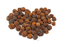 Heart of black pepper Stock Image