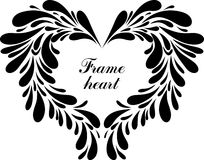Heart. Black and white frame heart Stock Photos