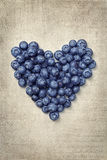 Heart from blackberries Royalty Free Stock Image