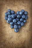 Heart from blackberries Royalty Free Stock Photos