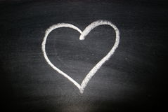 Heart on blackboard Royalty Free Stock Photos