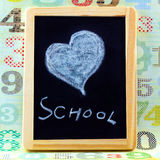 Heart on blackboard Royalty Free Stock Photo