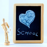 Heart on blackboard Royalty Free Stock Images