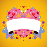 Heart blank banner Stock Photography