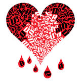 Heart Bleed Royalty Free Stock Image