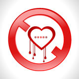 Heart bleed openssl bug virus bleeding heart restr Royalty Free Stock Image