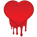 Heart bleeding Royalty Free Stock Photography