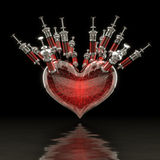 Heart and blood. Stock Photography