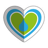 heart with blood drop icon Stock Photo