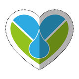 heart with blood drop icon Stock Image