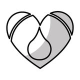 heart with blood drop icon Stock Photography