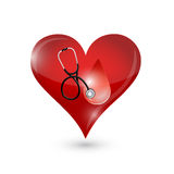Heart and blood drop illustration design Royalty Free Stock Photography
