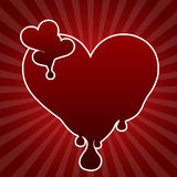 Heart with blood drops Royalty Free Stock Images