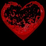 Heart of blood. Inside the heart blood flows royalty free stock image