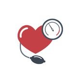 Heart, blood pressure measuring. Royalty Free Stock Photo