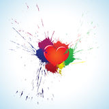 Heart with blots Stock Photo