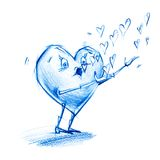 Heart Blows Soap Bubbles Royalty Free Stock Image